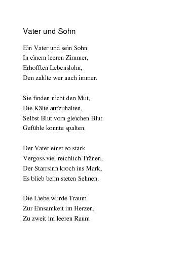 Gedichte Vater Und Sohn Von Rajymbek
