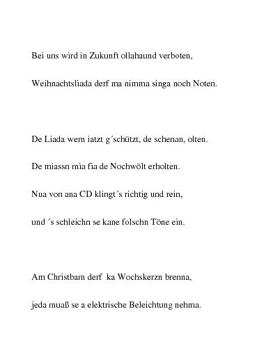 Weihnachtsgedichte Mundart.Weihnachtsgedichte Die Weihnachtsreform In österreichischer