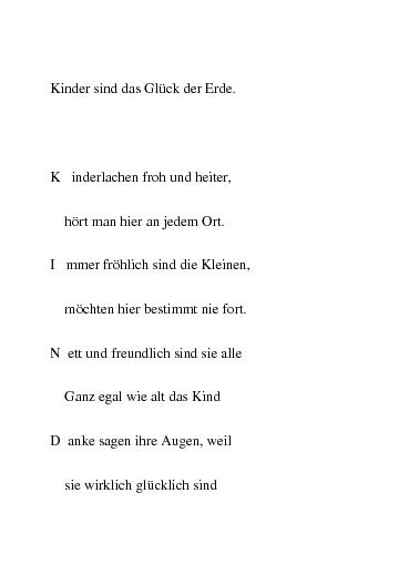 Über kinderglück gedicht LICHT