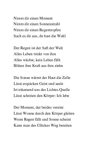 Gedichte Anleitung Zum Glücklich Sein Von Mondnebel