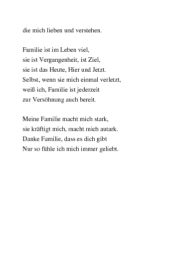 Gedichte Meine Familie Von Chrissy55