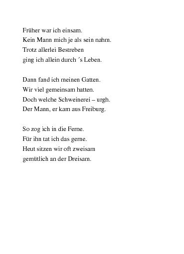 einsam gedicht