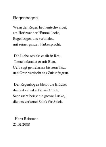 Regenbogen gedicht Johann Wolfgang