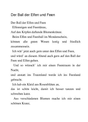 Gedichte Der Ball Der Elfen Und Feen Von Lini1982