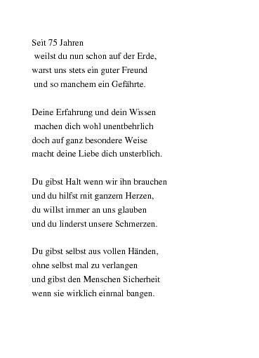 Gedichte 75 Jahre Oma 100 Schaffst Du Locker Von