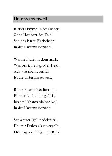 Gedichte Unterwasserwelt Von Rajymbek