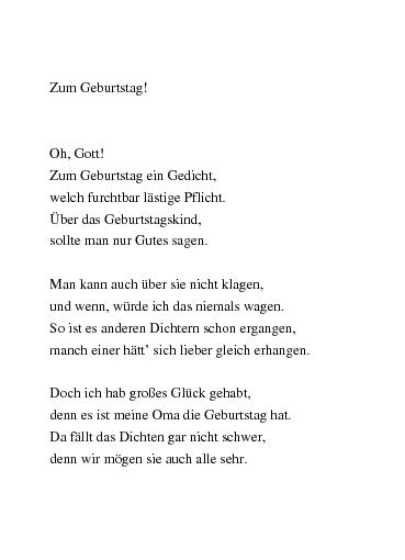 Zum oma geburtstag gedicht die für Für Oma