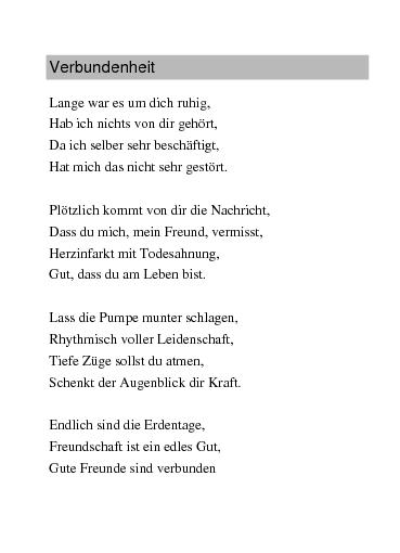 Gedichte Verbundenheit Von Rajymbek