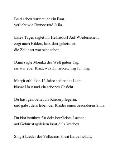 Lustige gedichte zum achtzigsten geburtstag